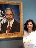 Luciana Scrofani Green Italian interpreting with Kofi Annan