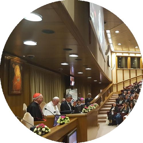 Luciana Scrofani Green English Italian interpreting for Pope Francis