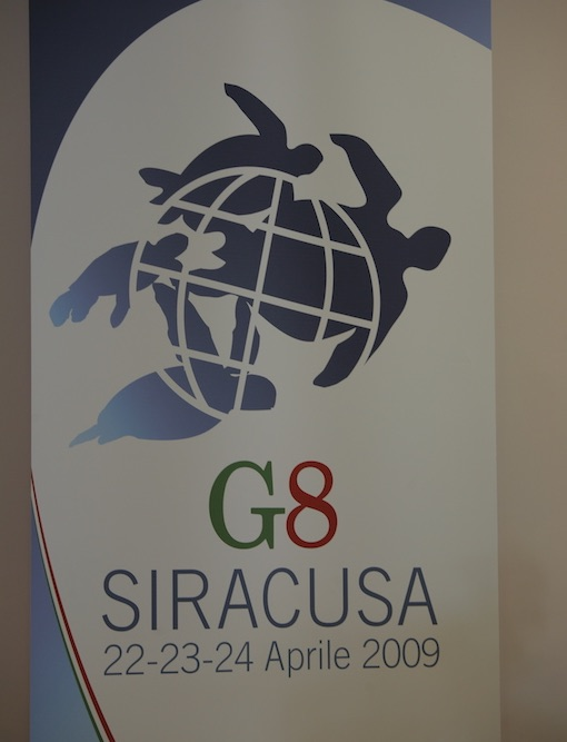 Luciana Scrofani Green English Italian interpreting London G8 Siracusa 2009