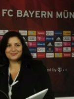 Luciana Scrofani Green Italian interpreting for FC Bayern Munchen