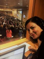 Luciana Scrofani interpreting for Pope Francis