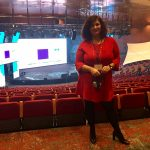 Luciana Scrofani Green Italian interpreting in Madrid December 2016