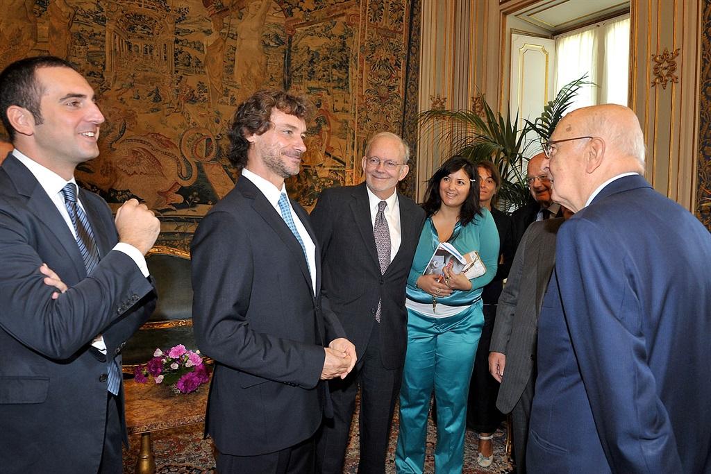 Luciana Scrofani Green interpreting for Giorgio Napolitano 2011
