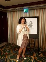 Luciana Scrofani Green Interpreting in Abu Dhabi January 2017