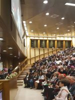 Luciana Scrofani Green interpreting for Pope Francis