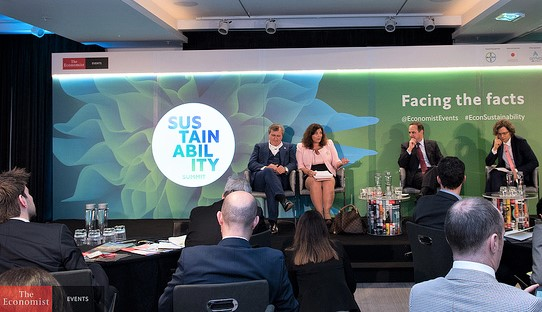 italian conference interpreter in london - sustainability event economist luciana scrofani green